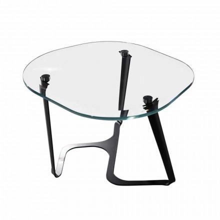 Handgjorda soffbord i glas och stål Tillverkad i Italien - Marbello