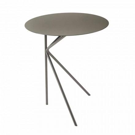 Runt soffbord i metall, design i olika färger och 2 storlekar - Olesya