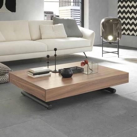 Modernt transformerande soffbord i trä och metall tillverkad i Italien - Fabio