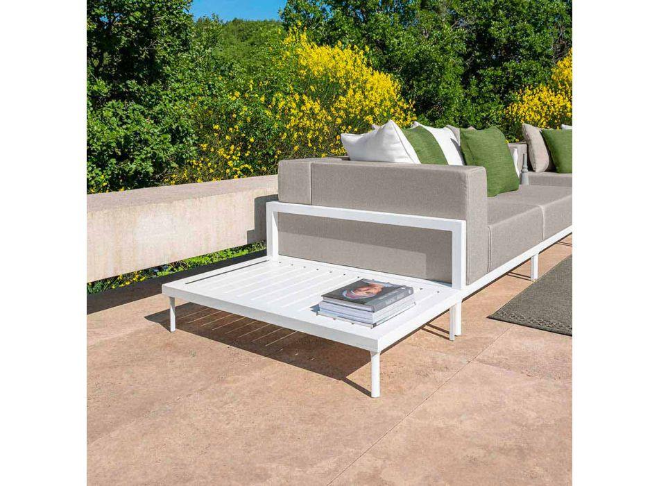 Aluminium rektangulärt soffbord utomhus - Cleo Alu av Talenti