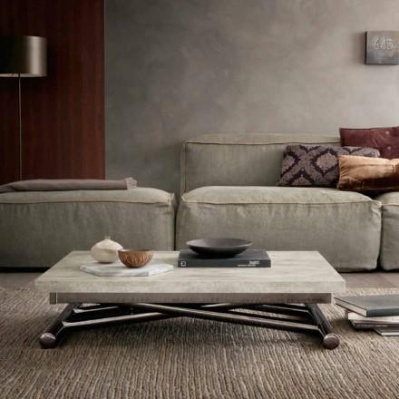 Modernt transformerande soffbord i trä och metall tillverkat i Italien - Gabri