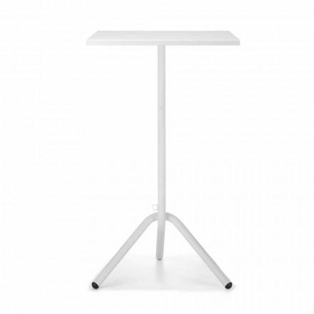 Hög fyrkantigt utomhusbord i metall och plåt tillverkat i Italien - Archibald