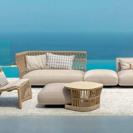 Cliff trädgård bord av Talenti, designad av Palomba i sladd och aluminium