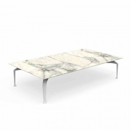 Calacatta Gres Modern Design Garden Coffee Table - Cruise Alu av Talenti