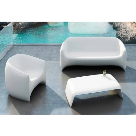 Trädgård soffbord tillverkat med polyeten Blow Vondom, modern design