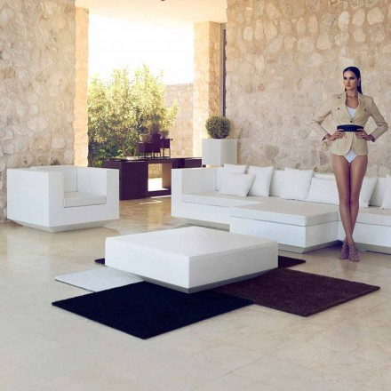 Garden kvadratisk soffbord Vela Vondom, modern design i polyeten