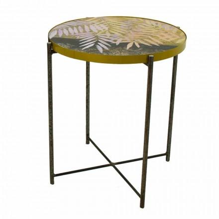 Soffbord inomhus eller utomhus med metallkonstruktion Tillverkad i Italien - Carim
