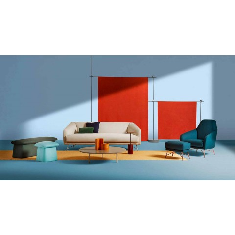 3 ben soffbord i stål och färgad träplatta - vackert