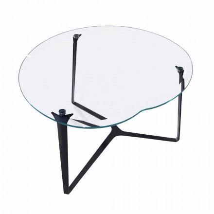 Soffbord, handgjorda, i glas och stål Tillverkad i Italien - Alicante
