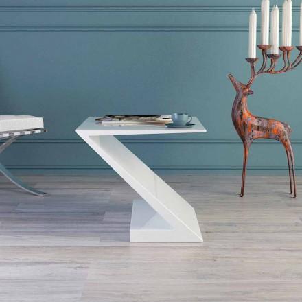 Zeta modernt designvitt soffbord tillverkat i Italien