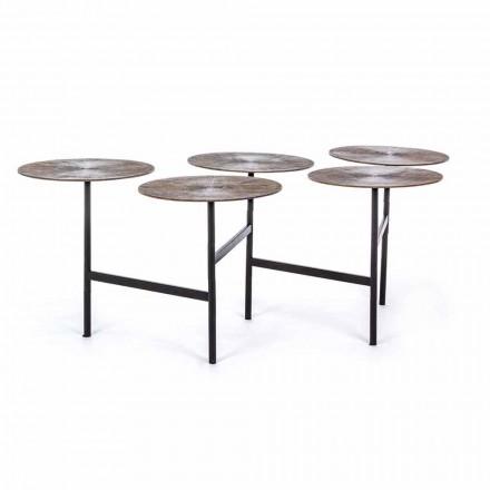 Homemotion Soffbord med 5 runda aluminiumtoppar - Pollino
