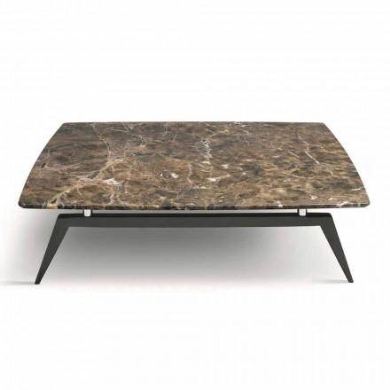 Soffbord med marmorplatta och träbotten tillverkad i Italien - höjning