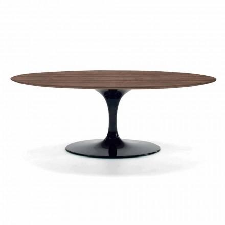Soffbord med oval topp i HPL-laminat Tillverkad i Italien - dollar