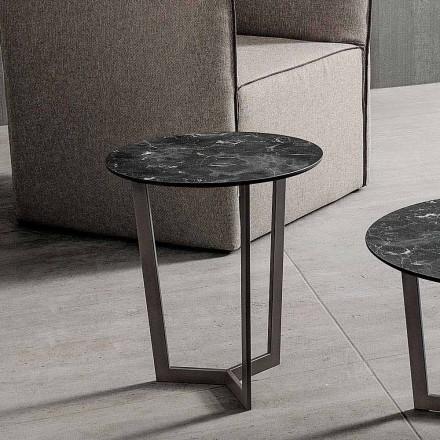 Soffbord med rund topp i laminerad HPL tillverkad i Italien - Mina