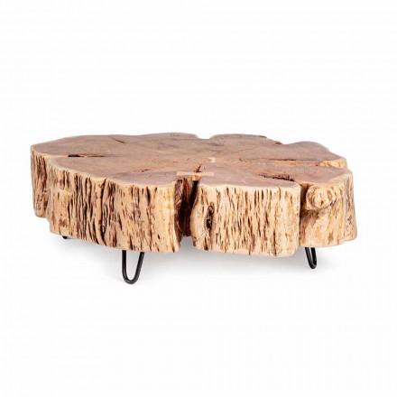 Homemotion Soffbord med formad topp i akaciaträ - Nabucco