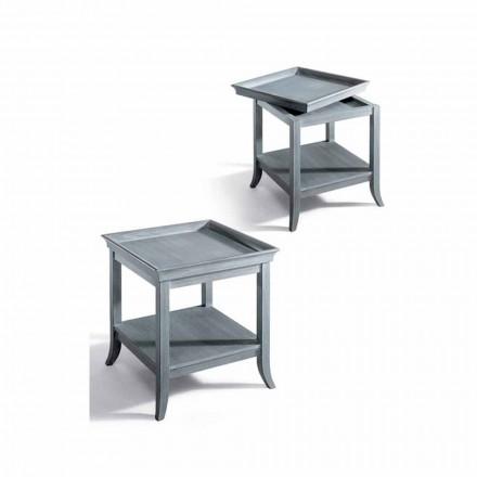 Soffbord Design vardagsrum i grått lackerat trä, 60x60 cm, Marcus