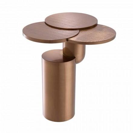 Design Soffbord i borstat kopparfinish stål - Olbia