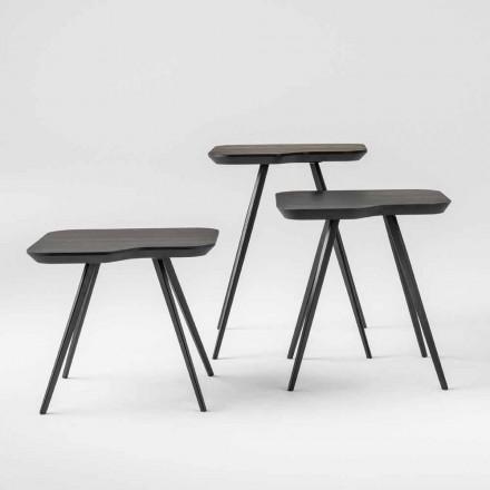 Lyxigt soffbord med massiv askplatta Tillverkad i Italien - Ulma