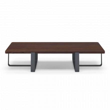 Lyxigt soffbord i färgad metall- och träskiva - Anacleto