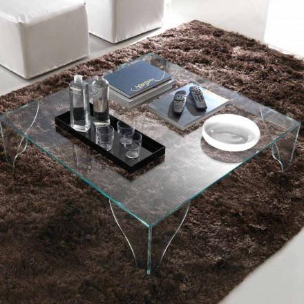 Soffbord i extra klar genomskinlig kristall tillverkad i Italien - litium