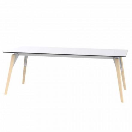 Soffbord i vitt eller svart laminat i 2 storlekar - Faz Wood av Vondom