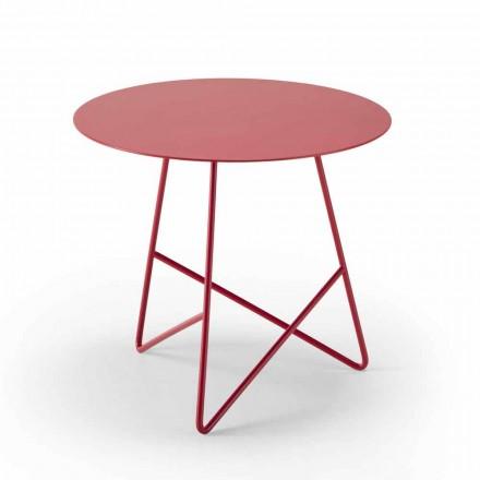 Soffbord i färgad metall och 3 dimensioner, tillverkad i Italien - Magali
