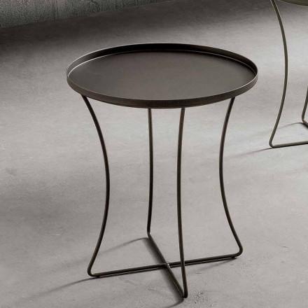 Metallsoffbord med behållarbricka Tillverkad i Italien - Numbo