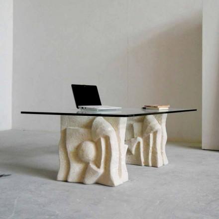 Vicenza sten soffbord och Priamo-S kristall, handskuren