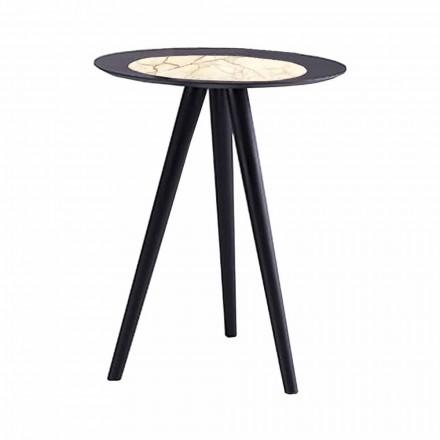 Modernt soffbord med rund topp i Gres Made in Italy - Stuttgart