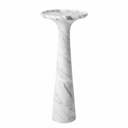Runt design soffbord i vit Carrara marmor - Udine