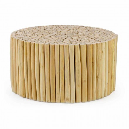 Runt soffbord bildat av Homemotion Teak Branches - Sprig
