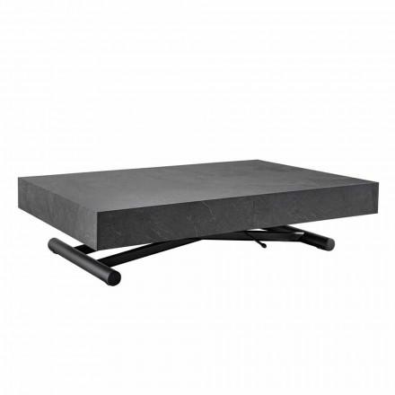 Omvandlingsbart soffbord med träskifferfinish - Ademo