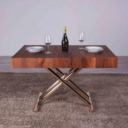 Omvandla soffbord i trä och metall Tillverkad i Italien - Patroclo