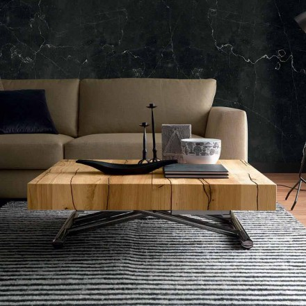 Omvandlande soffbord i massivt trä tillverkat i Italien - Trabucco