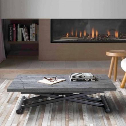 Omvandlingsbart metall soffbord med melamin topp - Sandero