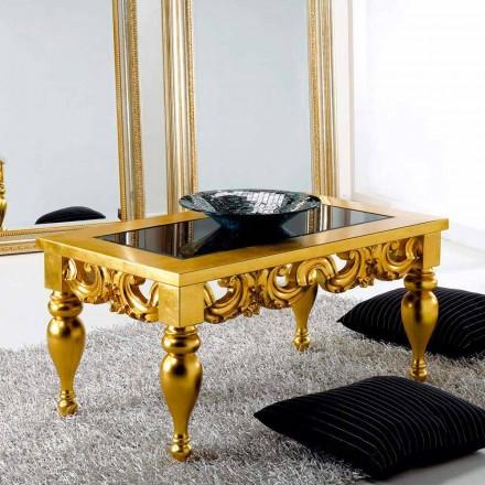 Soffbord klassisk design i Lof trä, guld- fullföljande