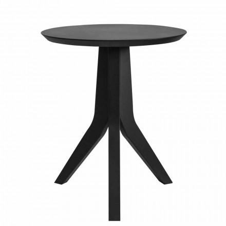 Modernt soffbord i svartlackerat trä med rund design - Sperone