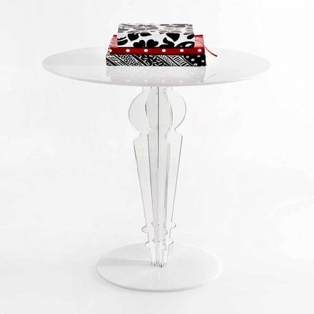 Klassisk design litet bord i akrylkristall H 64 cm, Cles