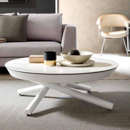 Keramiskt soffbord omvandlingsbart till ett matbord, tillverkat i Italien - Azelio