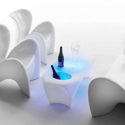 Ljus soffbord med mousserande vinflaska, utomhus- eller inomhusdesign - Lily av Myyour