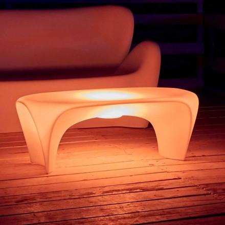 RGB Luminous Coffee Table för utomhus- eller inomhusdesign i plast - Lily av Myyour