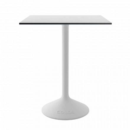 Modernt soffbord i gjutjärnmetall och HPL för utomhus tillverkad i Italien - Colby