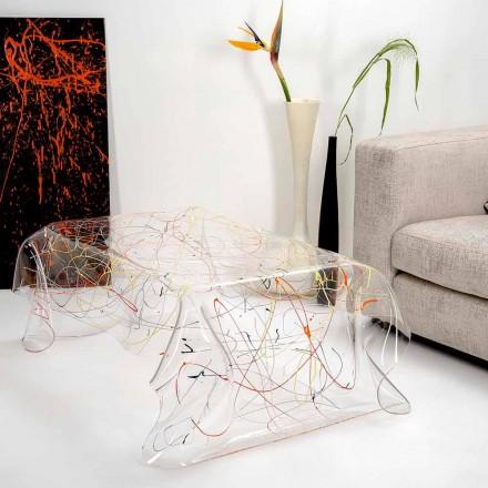 Modernt bord av mångfärgat plexiglas tillverkat i Italien, Asien