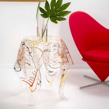 Modernt mångfärgat plexiglas soffbord tillverkat i Italien, Otto