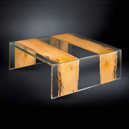modern glas soffbord och trä venetianska Briccola