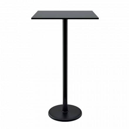 Soffbord med hög fyrkant i gjutjärnmetall och HPL för utomhus tillverkad i Italien - Clint