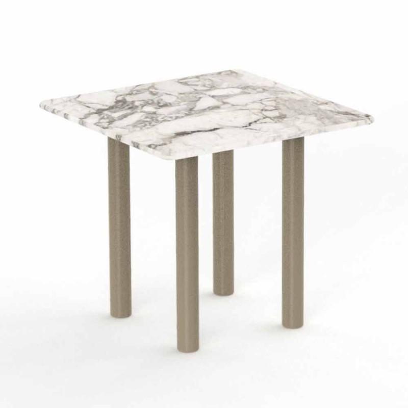Aluminium och Gres Square soffbord för utomhus - Panama av Talenti
