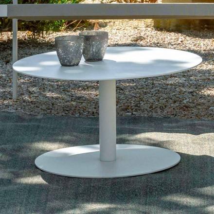 Runda trädgårds soffbord i vitt aluminium eller träkol - nyckel av Talenti