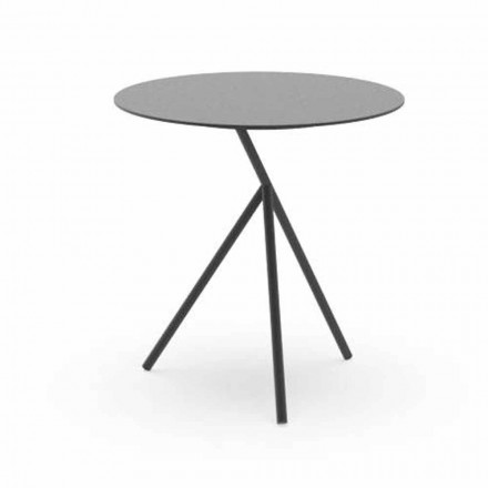 Rund trädgårds soffbord i vitt eller träkol aluminium - Sofy av Talenti