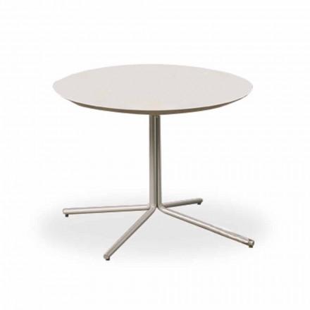 Runt soffbord i vit MDF av modern design 2 storlekar - Geone
